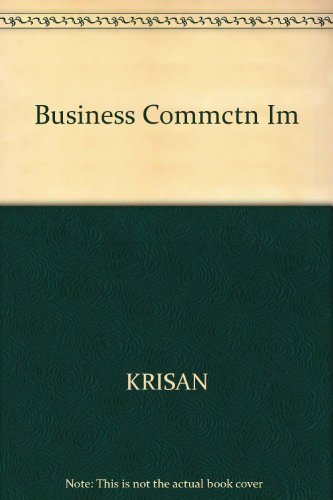 Business Communication Instructor's Manual: Harcourt; Krisan; Merrier