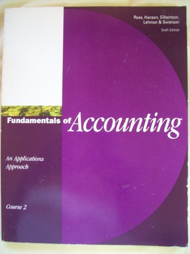 9780538711975: Fundamentals of Accounting: An Applications Approach, Course 2