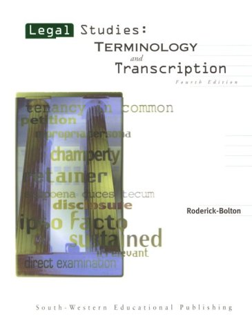 Legal Studies: Terminology and Transcription: Wanda Roderick-Bolton
