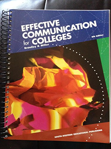 9780538717519: Effective Communication for Colleges