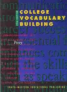 9780538717625: College Vocabulary Building