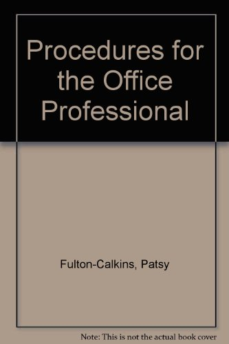 9780538722117: Procedures for the Office Professional