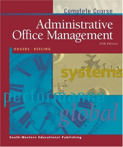 Administrative Office Management: Pattie Odgers, B.