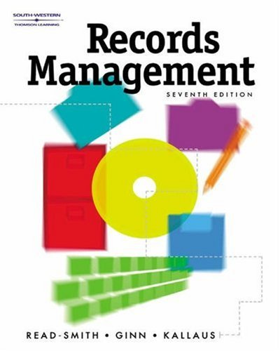 Records Management, Text/Disk Package: Judy Read, Mary