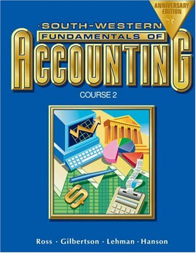 9780538727310: Fundamentals of Accounting Course 2: Chapters 18-26