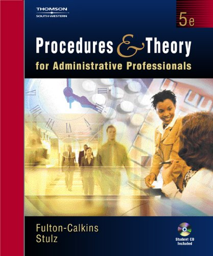 9780538727402: Procedures and Theory for Administrative Professionals (with CD-ROM)