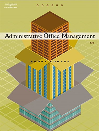 9780538727693: Administrative Office Management, Short Course