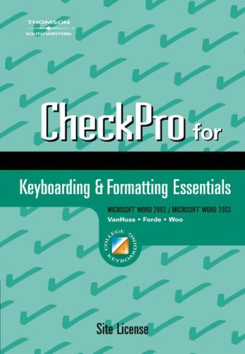 9780538727976: Check Pro: For Keyboarding & Formatting Essentials
