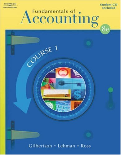 9780538728089: Fundamentals of Accounting: Course 1 (with Student CD-ROM)