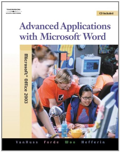9780538728287: Advanced Applications with Microsoft Word (with Data CD-ROM)
