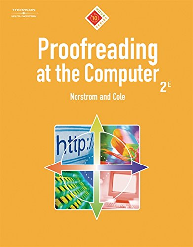 9780538728560: Proofreading at the Computer, 10-Hour Series (with CD-ROM) (10 Hour (South-Western))