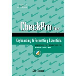 9780538728959: CheckPro for Keyboarding Essentials, Individual License (with Web Reporting)