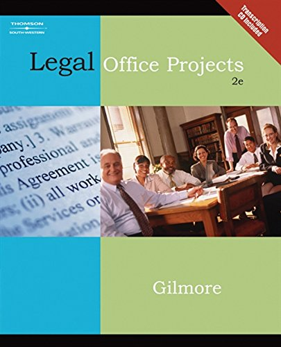 9780538729338: Legal Office Projects (with CD-ROM) (Legal Office Procedures)