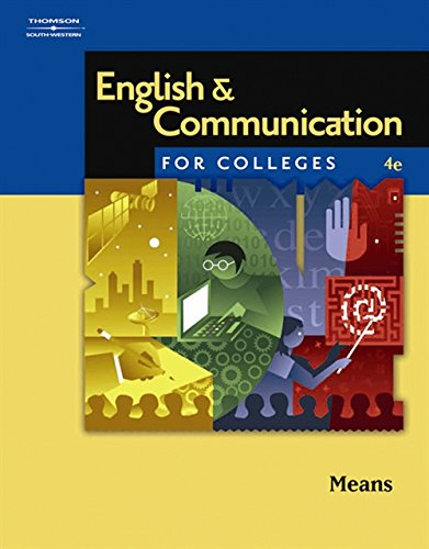 English and Communication for Colleges: Means, Thomas L.