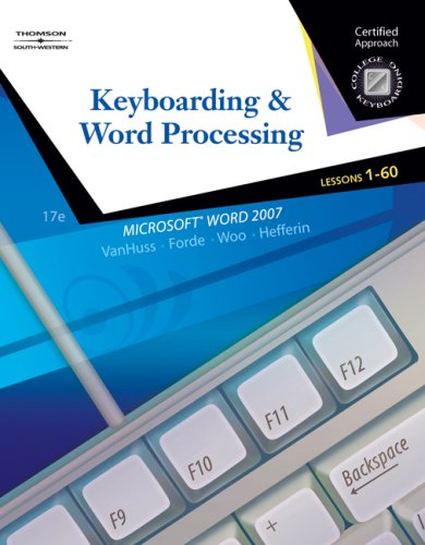 9780538730242: Keyboarding & Word Processing, Lessons 1-60 (College Keyboarding)