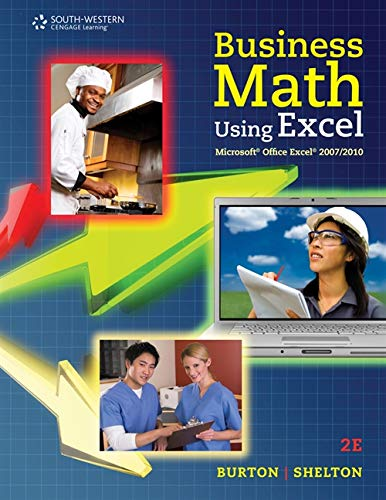 9780538731195: Business Math Using Excel (FBLA - All)