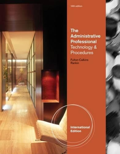 9780538731041 the administrative professional technology 9780538731379 the administrative professional procedures and theory international edition fandeluxe Images