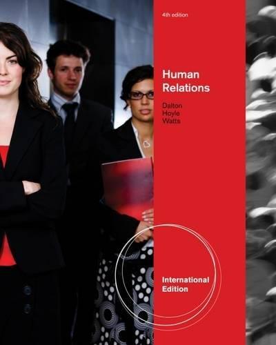 9780538731386: Human Relations, International Edition