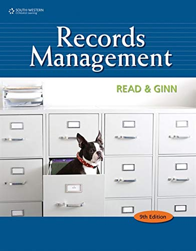 9780538731416: Records Management (Advanced Office Systems & Procedures)
