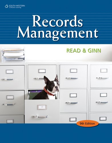 9780538731423: Records Management Student Instruction Manual