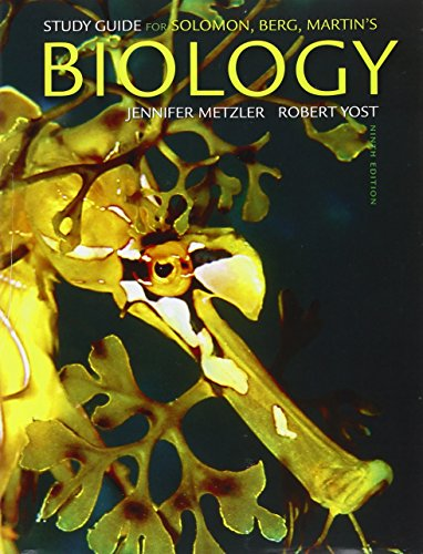 9780538731676: Study Guide for Solomon/Berg/Martin's Biology, 9th