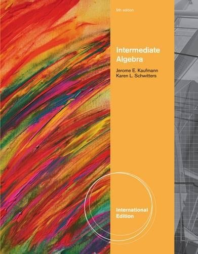 9780538731881: Intermediate Algebra, International Edition