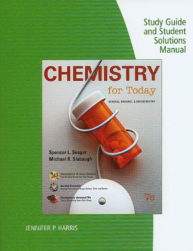 9780538734585: Study Guide with Solutions Manual for Chemistry for Today, 7th