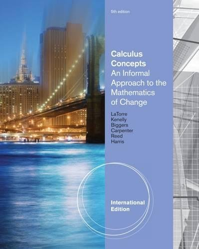 9780538735384: Calculus Concepts: An Informal Approach to the Mathematics of Change, International Edition