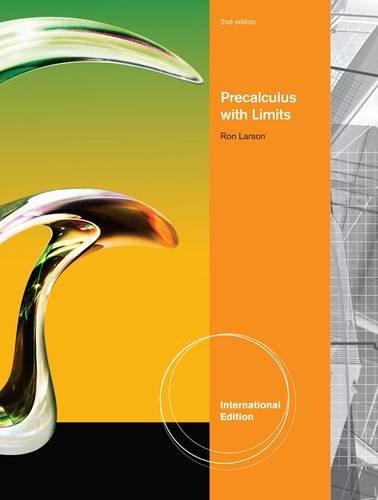 9780538735483: Precalculus with Limits, International Edition