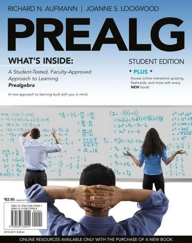 PREALG (with Review Cards and Printed Access: Richard N. Aufmann,