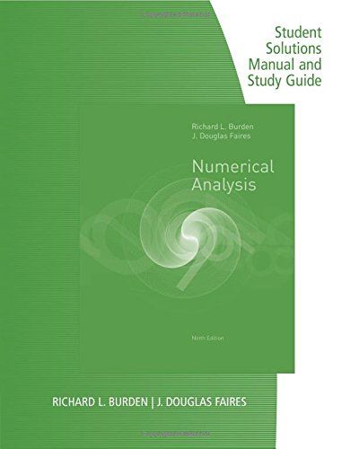 9780538735636 Numerical Analysis Student Solutions Manual