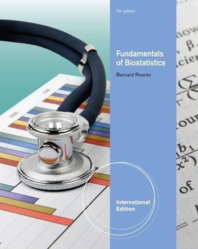 9780538735896: Fundamentals of Biostatistics