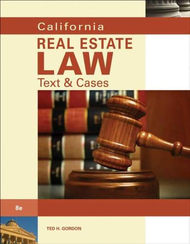 9780538736138: California Real Estate Law: Text & Cases
