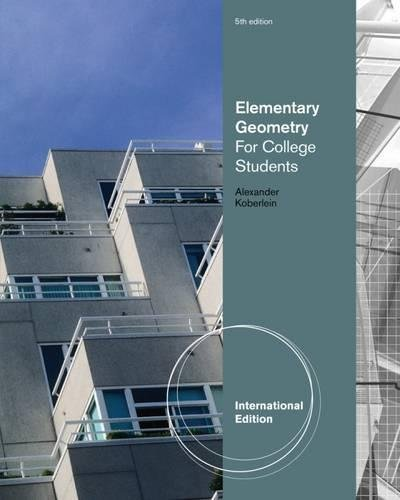 9780538736244: Elementary Geometry for College Students, International Edition