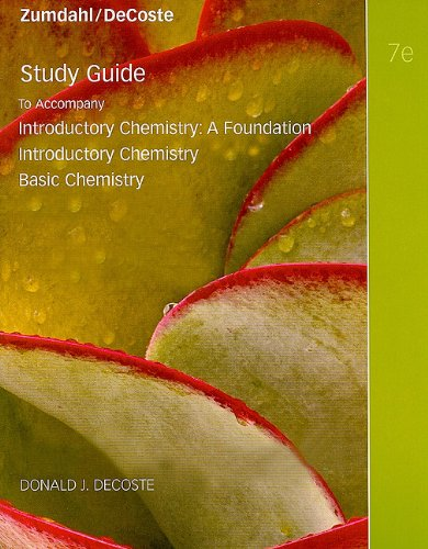 9780538736404: Study Guide for Zumdahl/DeCoste's Introductory Chemistry, 7th