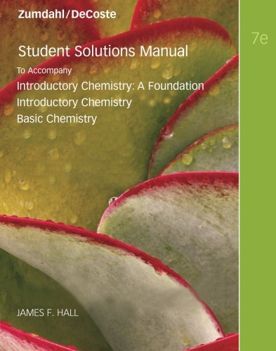 9780538736411: Student Solutions Manual for Introductory Chemistry, 7th