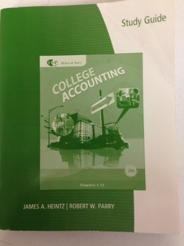 College Accounting - Student Guide/ Workpapers, 10-15