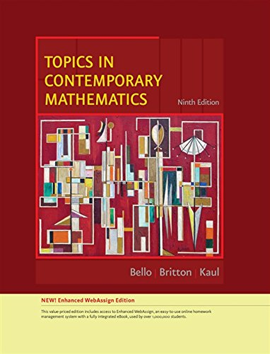 9780538737791: Topics in Contemporary Mathematics, Enhanced Edition (Available 2010 Titles Enhanced Web Assign)
