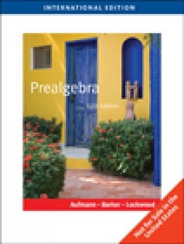 9780538738002: Prealgebra, International Edition