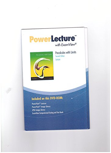 PowerLecture with ExamView, Precalculus with Limits