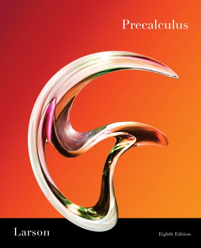 Student Study and Solutions Manual for Larson/Hostetler's Precalculus, 8th: Ron Larson; ...