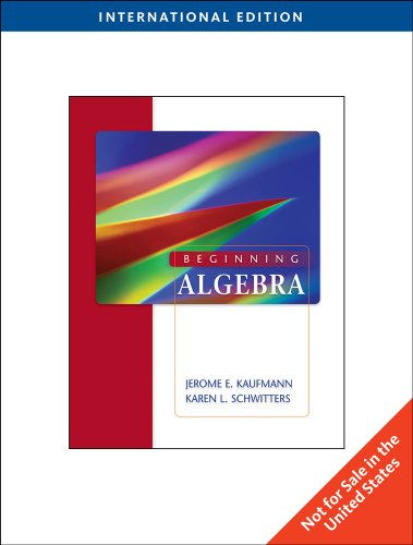 9780538739825: Beginning Algebra, International Edition