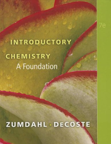 9780538740524: Introductory Chemistry: A Foundation