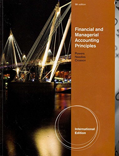 9780538742979: Financial And Managerial Accounting Principles, International Edition, 9 Ed
