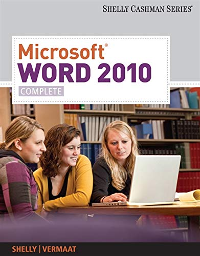 9780538743907: Microsoft Word 2010: Complete (SAM 2010 Compatible Products)