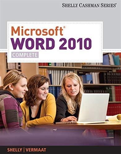 9780538743907: Microsoft Word 2010: Complete