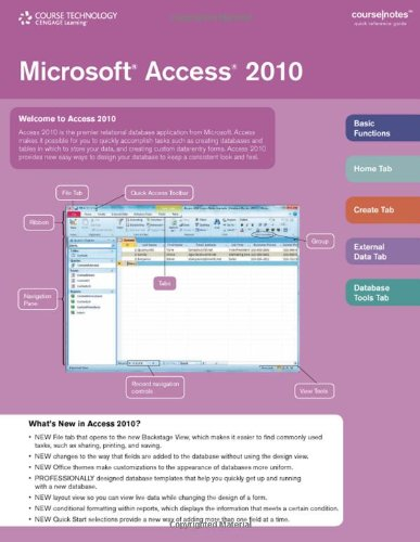 Microsoft Access 2010 CourseNotes: Course Technology