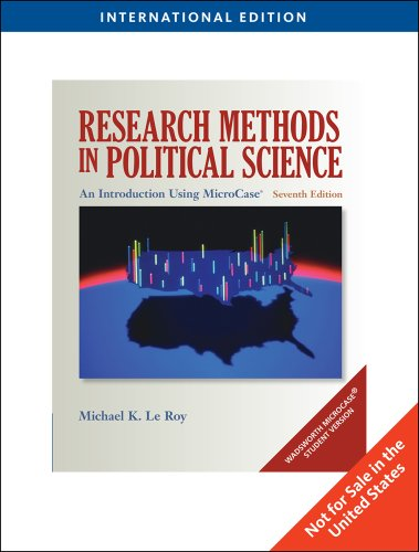 Research Methods in Political Science: Le Roy, Michael K.; Corbett, Michael