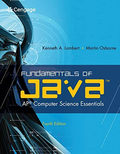 Fundamentals of Java(TM): AP* Computer Science Essentials: Lambert, Kenneth; Osborne, Martin