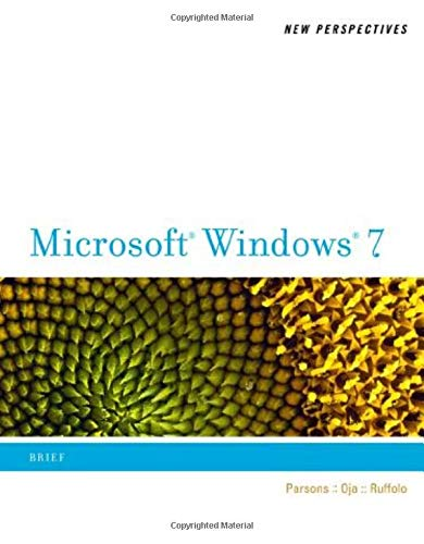 New Perspectives on Microsoft Windows 7, Brief: Parsons, June Jamrich;